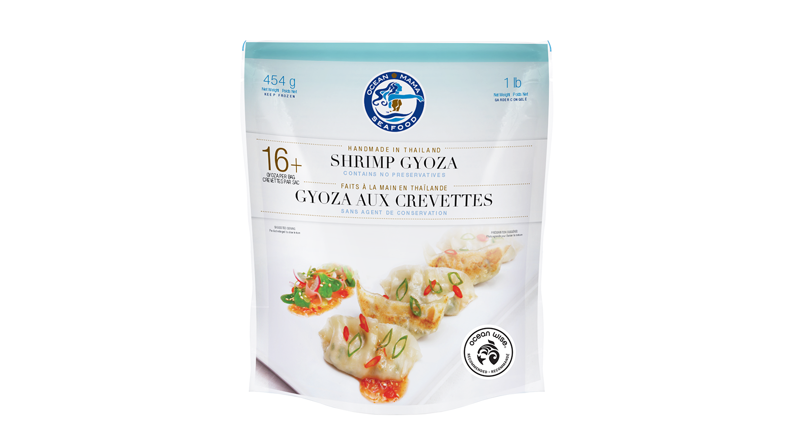 Ocean Wise Shrimp Gyoza - Package Design - Food Photography