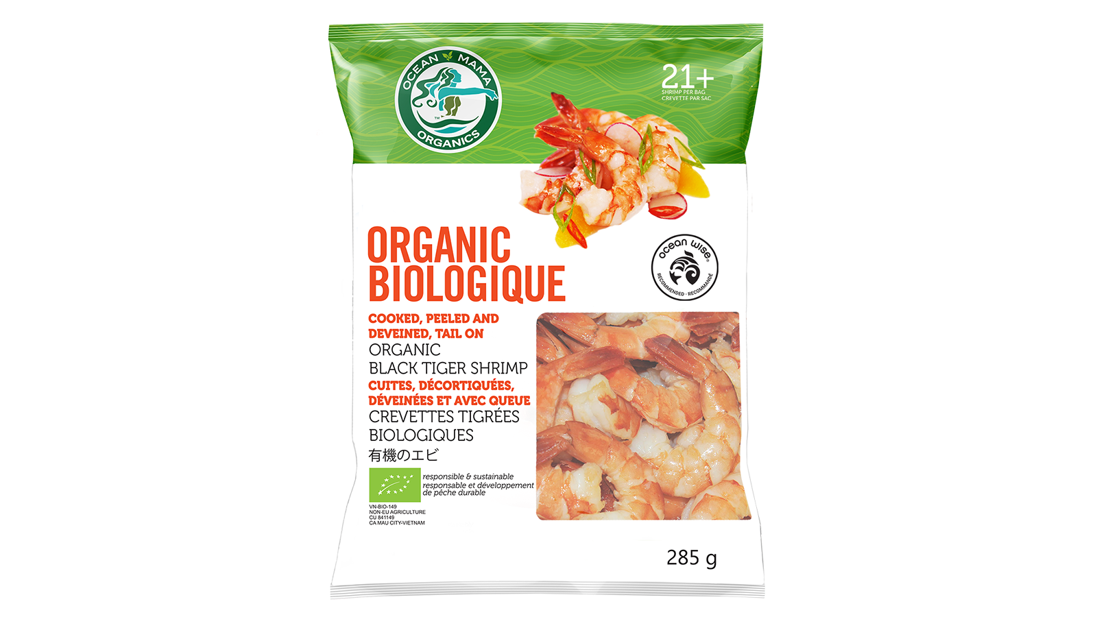 Organic Shrimp - Food Photography - Package Design