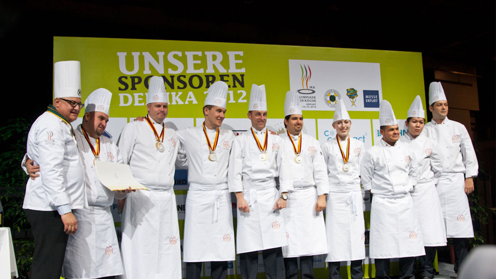 Gold Medal and Silver Medal Finalist - 2012 Culinary World Olympics - Culinary Team Canada